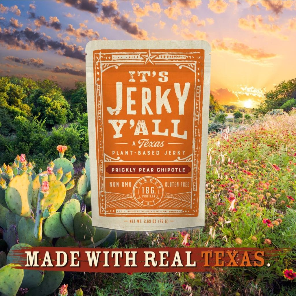 its jerky y'all a plant-based product made in texas