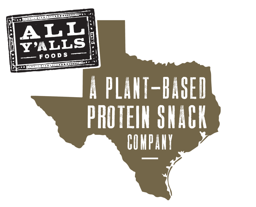 all y'alls foods logo a plant-based protein snack company in texas